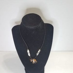 Seed Bead Necklace Black And White Beads Rhino Pen